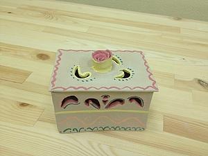 Шкатулка с прорезями! На фото работы ученицы   Ярмарка Мастеров - ручная работа, handmade