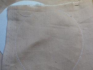 Ровный шов для головы куклам.   Ярмарка Мастеров - ручная работа, handmade