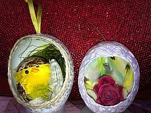 Гнезда из яичной скорлупы, пасхальный декор. Ярмарка Мастеров - ручная работа, handmade.
