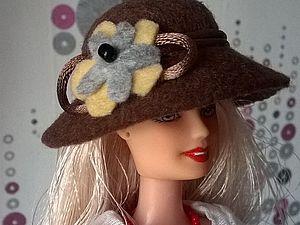 «Все как у людей»: шьем фетровую шляпу для куклы. Ярмарка Мастеров - ручная работа, handmade.