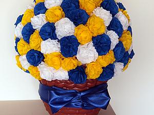 Цветочный беспредел, или Тяжело ли скрутить 126 роз (или гвоздик?) из гофрированной бумаги | Ярмарка Мастеров - ручная работа, handmade