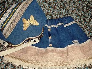 Шьем для девочки юбку и сумочку из ненужных джинсов. Ярмарка Мастеров - ручная работа, handmade.