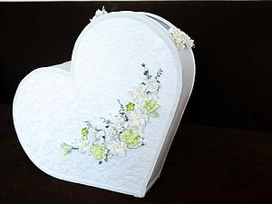 Делаем свадебный сундук для денег в форме сердца. Ярмарка Мастеров - ручная работа, handmade.