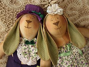 Старинный зайка-Тильда | Ярмарка Мастеров - ручная работа, handmade