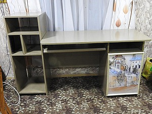 Преображение дачного компьютерного стола. Ярмарка Мастеров - ручная работа, handmade.
