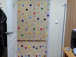 Мастер-класс: декоративная шторка из пенопластовых шариков. Ярмарка Мастеров - ручная работа, handmade.