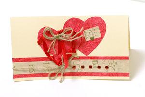Изготовленые открытки из декоративной бумаги - «Любящие сердечки». Ярмарка Мастеров - ручная работа, handmade.