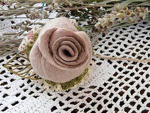 Создаем розу в техниках сухого и мокрого валяния | Ярмарка Мастеров - ручная работа, handmade