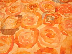 """Работа с шёлковыми лентами. Валяная юбка """"Розовый сад"""". Ярмарка Мастеров - ручная работа, handmade."""
