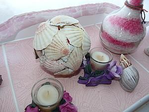 Декор в ванну из ракушек | Ярмарка Мастеров - ручная работа, handmade