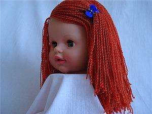 Как сменить свалявшиеся безобразные волосы на кукольной голове на новые. Ярмарка Мастеров - ручная работа, handmade.