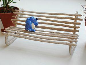 Лавочка или делаем мини мебель сами. Ярмарка Мастеров - ручная работа, handmade.
