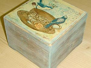 Декапе на морилках. Шкатулка. | Ярмарка Мастеров - ручная работа, handmade