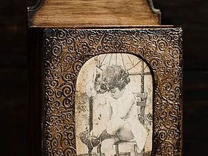 Мастер-класс «Ключик от детства» - декор ключницы, имитация резьбы | Ярмарка Мастеров - ручная работа, handmade