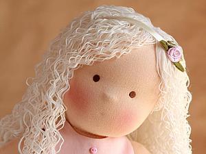 Как сделать куколке волнистые волосы. Ярмарка Мастеров - ручная работа, handmade.