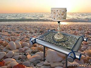 Декорируем настольную лампу ракушками. Ярмарка Мастеров - ручная работа, handmade.