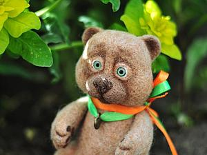 МК сухое валяние Медвежонок | Ярмарка Мастеров - ручная работа, handmade