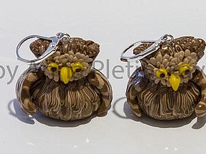 Серьги-совы | Ярмарка Мастеров - ручная работа, handmade