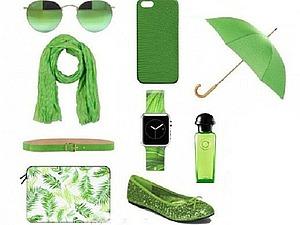 Зеленая цвет в мире моды. Ярмарка Мастеров - ручная работа, handmade.