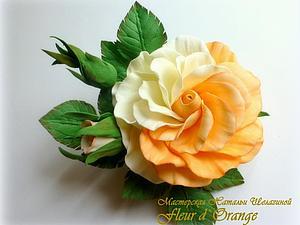 Мастер-класс Цветы из фоамирана Роза КЕЙТ | Ярмарка Мастеров - ручная работа, handmade