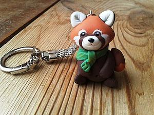 Делаем брелок «Красная панда Ириска» из полимерной глины. Ярмарка Мастеров - ручная работа, handmade.