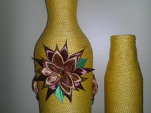 Пребражение стеклянных бутылок, или Делаем вазу | Ярмарка Мастеров - ручная работа, handmade