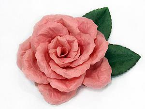 Как сделать реалистичную розу без инструментов - Ярмарка Мастеров - ручная работа, handmade