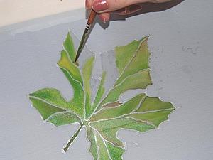 Роспись ткани в технике «холодный батик».. Ярмарка Мастеров - ручная работа, handmade.