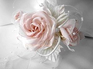 Цветы из ткани.Мастер-класс.Композиция из роз. | Ярмарка Мастеров - ручная работа, handmade