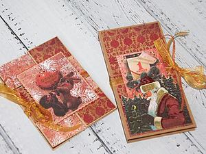 Новогодняя открытка + Шоколадница! | Ярмарка Мастеров - ручная работа, handmade
