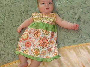 Сшить платье для девочки на 8 месяцев