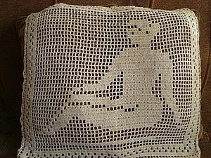Вязаные накидки на подушки | Ярмарка Мастеров - ручная работа, handmade