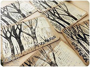 «Печатаем» открытки с элементами гравюры. Ярмарка Мастеров - ручная работа, handmade.
