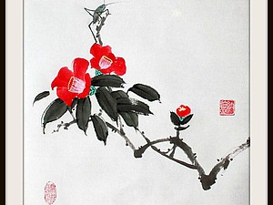 Традиционная китайская живопись для новичков. Камелии. | Ярмарка Мастеров - ручная работа, handmade
