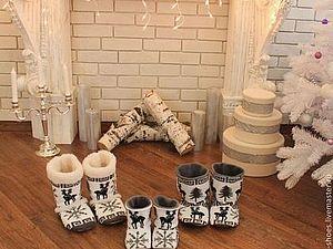 Конкурс в магазине Ксении Ветровой (домашние сапожки) | Ярмарка Мастеров - ручная работа, handmade