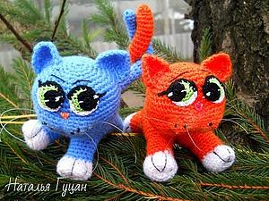 Вяжем кошачью парочку | Ярмарка Мастеров - ручная работа, handmade
