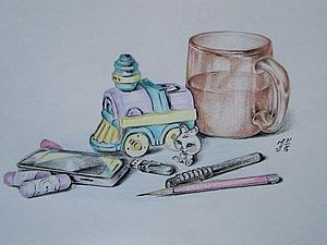 Рисуем простой и яркий скетч для детской комнаты. Ярмарка Мастеров - ручная работа, handmade.