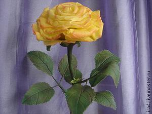 Роза холодным фарфором. | Ярмарка Мастеров - ручная работа, handmade