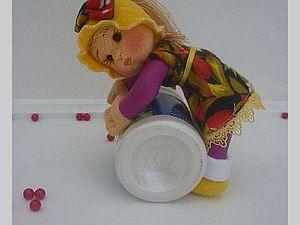 Развивающая игровая кукла из папильоток.. Ярмарка Мастеров - ручная работа, handmade.