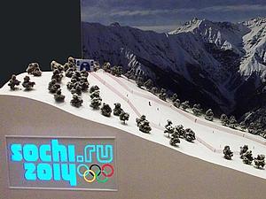 Макет Олимпийской горнолыжной трассы Сочи 2014   Ярмарка Мастеров - ручная работа, handmade