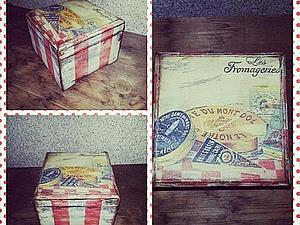 Новинка!!! «Милая Вещица», полосатая шкатулка с многослойным старением | Ярмарка Мастеров - ручная работа, handmade