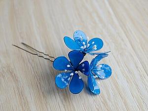 Создаем шпильку для волос с цветами из
