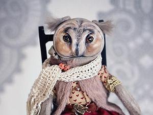 Будуарная кукла сова или зверёк (2 занятия). | Ярмарка Мастеров - ручная работа, handmade