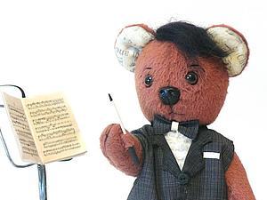 Новый мишка Дирижер   Ярмарка Мастеров - ручная работа, handmade