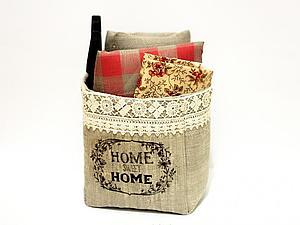 Шьем текстильную корзинку в винтажном стиле. Ярмарка Мастеров - ручная работа, handmade.