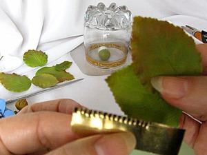 Мастер-класс: делаем каттер для листьев из подручных материалов. Листья из холодного фарфора. Ярмарка Мастеров - ручная работа, handmade.
