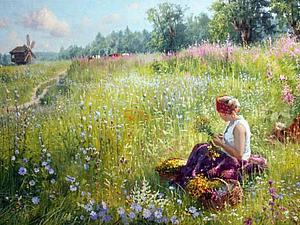 Летние пейзажи (Владимир Жданов) | Ярмарка Мастеров - ручная работа, handmade
