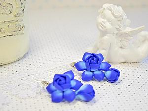 Лепим прекрасные серьги из полимерной глины | Ярмарка Мастеров - ручная работа, handmade