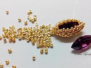 Мастер-класс: оплетение кристалла Сваровски формы Navette | Ярмарка Мастеров - ручная работа, handmade