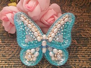 Аукцион на нежную весеннюю брошь-бабочку! | Ярмарка Мастеров - ручная работа, handmade